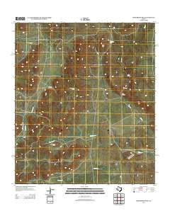 Henderson Mesa Texas Historical topographic map, 1:24000 scale, 7.5 X 7.5 Minute, Year 2012