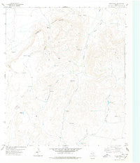 Herds Pass Texas Historical topographic map, 1:24000 scale, 7.5 X 7.5 Minute, Year 1978