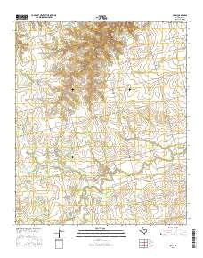 Hobbs Texas Current topographic map, 1:24000 scale, 7.5 X 7.5 Minute, Year 2016