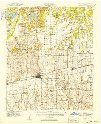 Honey Grove Texas Historical topographic map, 1:62500 scale, 15 X 15 Minute, Year 1949