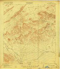Hood Spring Texas Historical topographic map, 1:62500 scale, 15 X 15 Minute, Year 1918