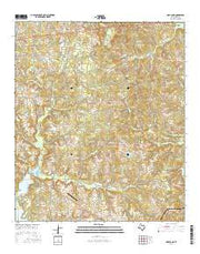 Hope Pond Texas Current topographic map, 1:24000 scale, 7.5 X 7.5 Minute, Year 2016 from Texas Maps Store