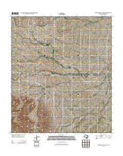 Hopper Draw East Texas Historical topographic map, 1:24000 scale, 7.5 X 7.5 Minute, Year 2012