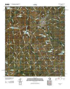 Hubbard Texas Historical topographic map, 1:24000 scale, 7.5 X 7.5 Minute, Year 2010