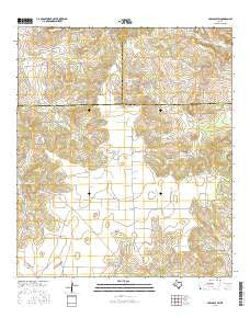Hulldale SW Texas Current topographic map, 1:24000 scale, 7.5 X 7.5 Minute, Year 2016