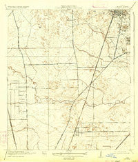 Humble Texas Historical topographic map, 1:31680 scale, 7.5 X 7.5 Minute, Year 1919