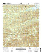 Hurricane Creek Texas Current topographic map, 1:24000 scale, 7.5 X 7.5 Minute, Year 2016 from Texas Map Store