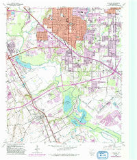 Hutchins Texas Historical topographic map, 1:24000 scale, 7.5 X 7.5 Minute, Year 1958