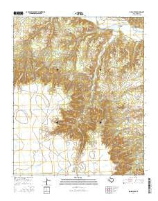 Indian Peak Texas Current topographic map, 1:24000 scale, 7.5 X 7.5 Minute, Year 2016