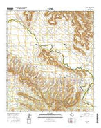 Iraan Texas Current topographic map, 1:24000 scale, 7.5 X 7.5 Minute, Year 2016 from Texas Map Store