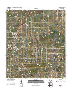 Jarrell Texas Historical topographic map, 1:24000 scale, 7.5 X 7.5 Minute, Year 2012
