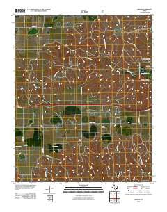 Jericho Texas Historical topographic map, 1:24000 scale, 7.5 X 7.5 Minute, Year 2010