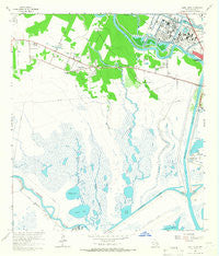 Jones Creek Texas Historical topographic map, 1:24000 scale, 7.5 X 7.5 Minute, Year 1963