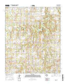 Joy Texas Current topographic map, 1:24000 scale, 7.5 X 7.5 Minute, Year 2016