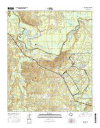 Karnack Texas Current topographic map, 1:24000 scale, 7.5 X 7.5 Minute, Year 2016 from Texas Map Store