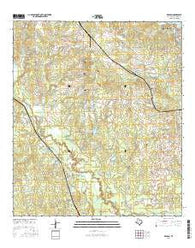 Keenan Texas Current topographic map, 1:24000 scale, 7.5 X 7.5 Minute, Year 2016