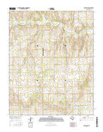 Kelton NW Texas Current topographic map, 1:24000 scale, 7.5 X 7.5 Minute, Year 2016 from Texas Map Store