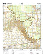 Kerens Texas Current topographic map, 1:24000 scale, 7.5 X 7.5 Minute, Year 2016 from Texas Map Store