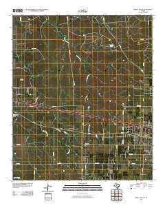 Kirby Lake NE Texas Historical topographic map, 1:24000 scale, 7.5 X 7.5 Minute, Year 2010