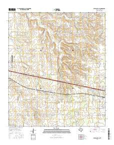 Kirby Lake NE Texas Current topographic map, 1:24000 scale, 7.5 X 7.5 Minute, Year 2016