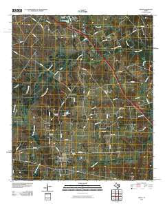 Kirvin Texas Historical topographic map, 1:24000 scale, 7.5 X 7.5 Minute, Year 2010