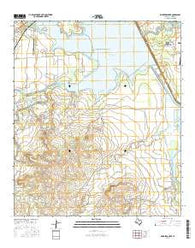 Knickerbocker Texas Current topographic map, 1:24000 scale, 7.5 X 7.5 Minute, Year 2016