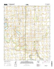 Knott SW Texas Current topographic map, 1:24000 scale, 7.5 X 7.5 Minute, Year 2016
