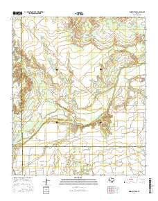 Knox City NW Texas Current topographic map, 1:24000 scale, 7.5 X 7.5 Minute, Year 2016