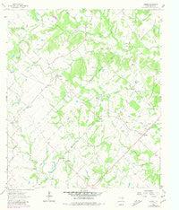Kurten Texas Historical topographic map, 1:24000 scale, 7.5 X 7.5 Minute, Year 1963