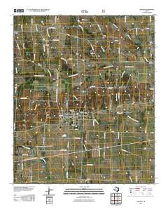 Ladonia Texas Historical topographic map, 1:24000 scale, 7.5 X 7.5 Minute, Year 2010