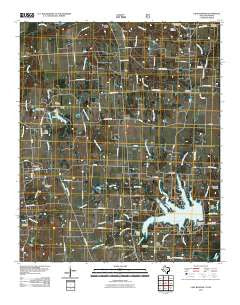 Lake Bonham Texas Historical topographic map, 1:24000 scale, 7.5 X 7.5 Minute, Year 2010