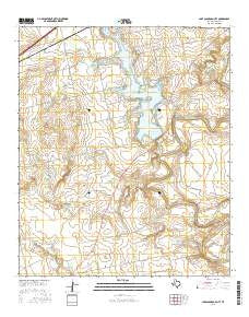 Lake Colorado City Texas Current topographic map, 1:24000 scale, 7.5 X 7.5 Minute, Year 2016