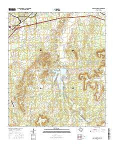 Lake Sweetwater Texas Current topographic map, 1:24000 scale, 7.5 X 7.5 Minute, Year 2016