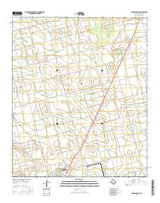 Lamesa North Texas Current topographic map, 1:24000 scale, 7.5 X 7.5 Minute, Year 2016