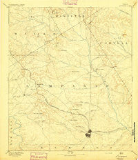 Lampasas Texas Historical topographic map, 1:125000 scale, 30 X 30 Minute, Year 1894