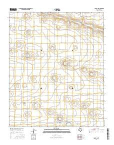 Lariat NE Texas Current topographic map, 1:24000 scale, 7.5 X 7.5 Minute, Year 2016