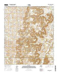Leeper Creek Texas Current topographic map, 1:24000 scale, 7.5 X 7.5 Minute, Year 2016