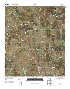 Leona SW Texas Historical topographic map, 1:24000 scale, 7.5 X 7.5 Minute, Year 2010
