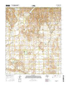 Lesley Texas Current topographic map, 1:24000 scale, 7.5 X 7.5 Minute, Year 2016
