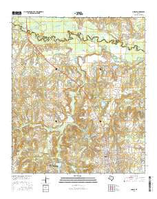 Lindale Texas Current topographic map, 1:24000 scale, 7.5 X 7.5 Minute, Year 2016