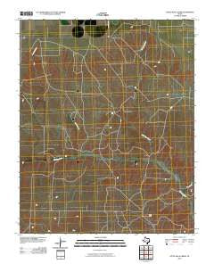 Little Blue Creek Texas Historical topographic map, 1:24000 scale, 7.5 X 7.5 Minute, Year 2010