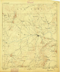Llano Texas Historical topographic map, 1:125000 scale, 30 X 30 Minute, Year 1887