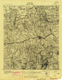 Llano Texas Historical topographic map, 1:125000 scale, 30 X 30 Minute, Year 1918