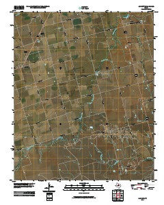 Lockett Texas Historical topographic map, 1:24000 scale, 7.5 X 7.5 Minute, Year 2010