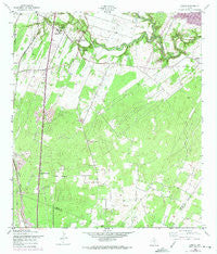 Losoya Texas Historical topographic map, 1:24000 scale, 7.5 X 7.5 Minute, Year 1958