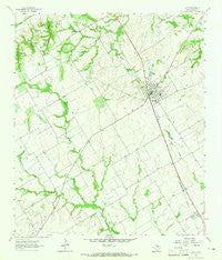 Lott Texas Historical topographic map, 1:24000 scale, 7.5 X 7.5 Minute, Year 1963