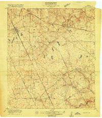Louetta Texas Historical topographic map, 1:24000 scale, 7.5 X 7.5 Minute, Year 1916