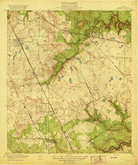 Louetta Texas Historical topographic map, 1:31680 scale, 7.5 X 7.5 Minute, Year 1920