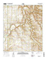Lueders East Texas Current topographic map, 1:24000 scale, 7.5 X 7.5 Minute, Year 2016