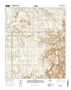 Lueders NE Texas Current topographic map, 1:24000 scale, 7.5 X 7.5 Minute, Year 2016
